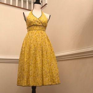 NWT ANTHROPOLOGIE lemon dress